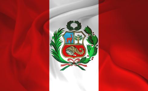 bandera rojo y blanca del Perú