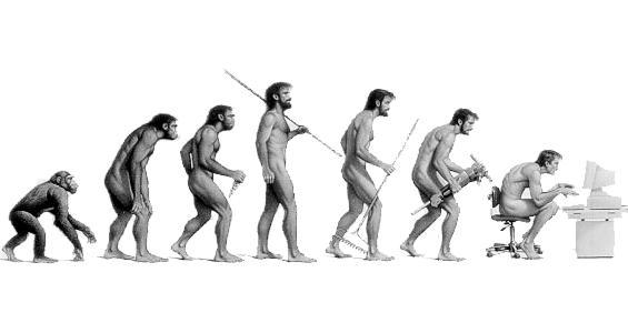 Resultado de imagen de LA EVOLUCION DEL MONO